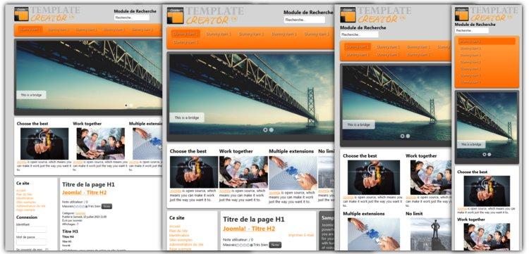 template joomla responsive design