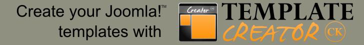 Create your Joomla templates with Template Creator CK