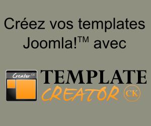 Créez vos templates Joomla avec Template Creator CK
