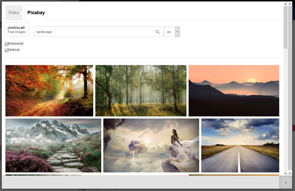 Pixabay integrated into Template Creator CK